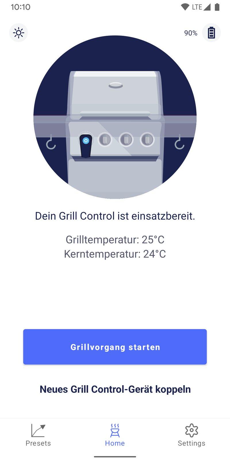 Grill Control Mockup