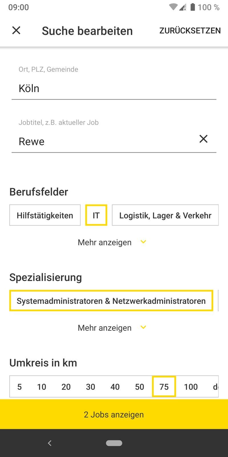meinestadt.de Jobbörse-App Mockup